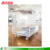 Transparent moving acrylic book magazine rack & coffee table for living house