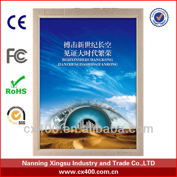 plastic advertising material / wholesale poster frames displays/ad box