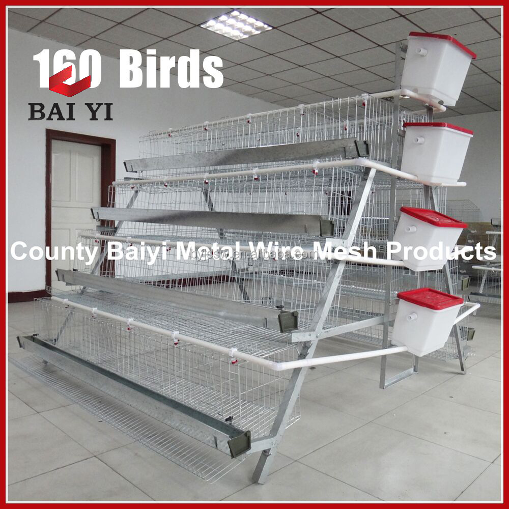 Chicken Layers Cages For 96 Birds Per Unit