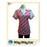 OEM service fashion style polyester fabric sports woman print polo T-shirt