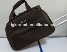 3 pcs set duffle bag with aluminum trolley, trolley luggage factory 2014