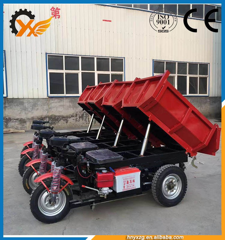 Strong and durable tyres open body hydraulic lift cargo tricycle