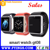 aiwatch gt08 low cost watch mobile phone f2 q8 smart watch alarm
