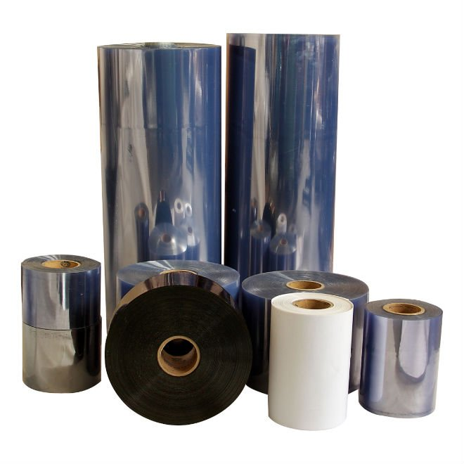 Factory direct supply glossy Rigid PVC film roll for folding boxes