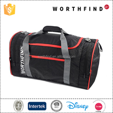 High quality polyester waterproof black outdoor travel luggage custom duffle bag