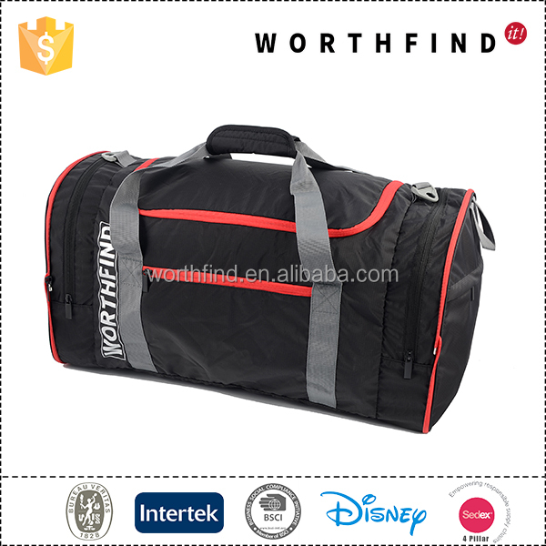 High quality polyester waterproof outdoor travel luggage custom duffle bag
