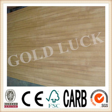 Qingdao Gold Luck High Quality Africa Teak Wood Faced Plywood