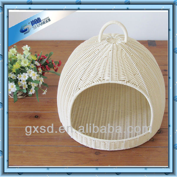 SD products hotsell ECO-friendly PP rattan cat basket