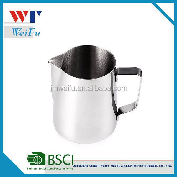 12oz 350ml stainless steel coffee milk frother jug