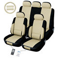 Lumbar Tan 12-piece Automotive Seat Cover Set