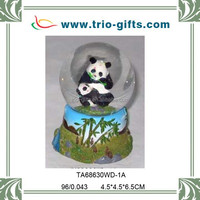 3D Resign panda animal water ball snow globe