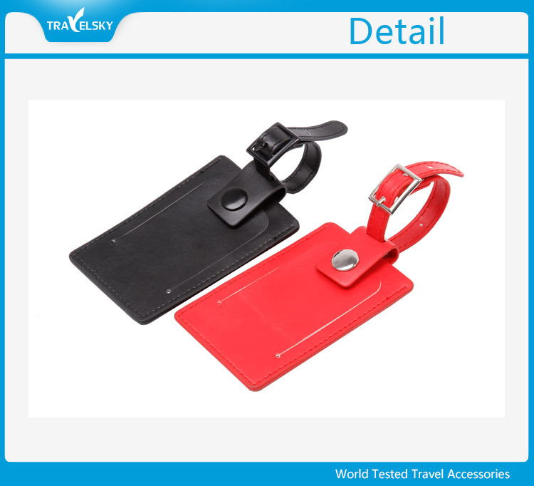 Travel Embossed PU Leather Blank Bag Tag