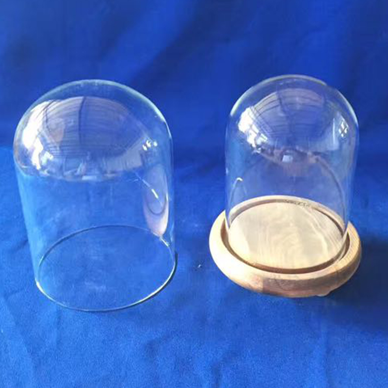 Large Clear Glass Dome with Base Unique Design Glass Bell Jar Dome Top Glass