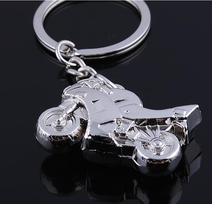 promotional gifts wholesale Custom metal alloy motorcycle shape keychains