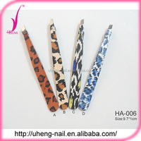 Customized printed pattern colorful paper coating eyebrow tweezers