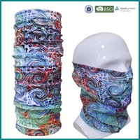 Seamless tube printed custom multifunctional headwear bandana
