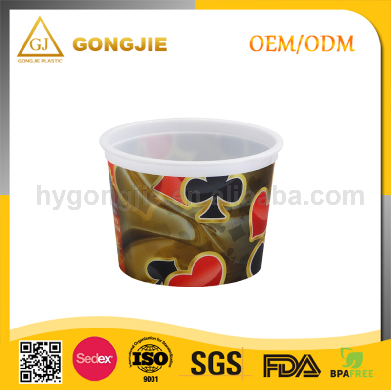 Custom Printed, Hot Sell, PP Wholesale, Injection Molding, Coin Plastic Cup