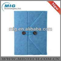 For IPad 2/3/4/5 European Designed Leather Envelope Case for apple ipad, for ipad case with stand