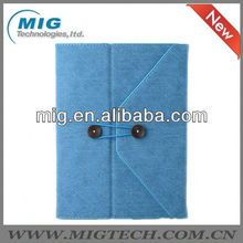 For IPad 2/3/4/5 European Designed Leather Envelope Case for ipad, for ipad case with stand