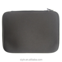 Plain waterproof neoprene laptop sleeve bag case wholesale double zipper closure laptop bag