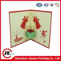 new style custom handmade 3d greeting card for holiday decoration& gifts