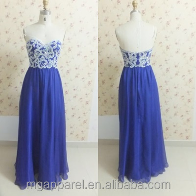 hotsale silk crystal beaded dress handmade prom dresses blue formal croset tulle long dress