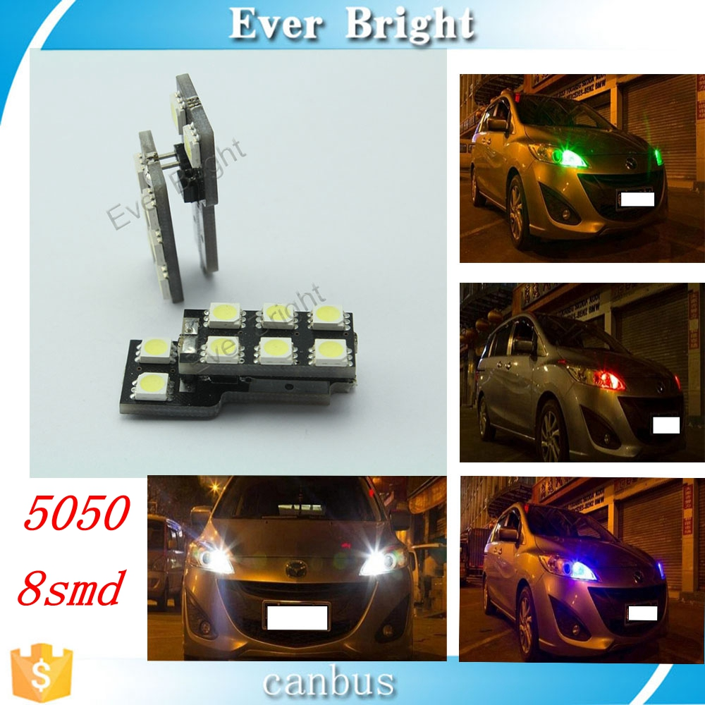 T10 8SMD 5050 Can bus W5W Error Free Car Led Interior Lights Clearance Light Auto Led Bulbs Motorcycle decoration lighting