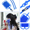 Universal Mobile Silicone Rubber Hang Rope Sling Soft Phone Case for Huawei Mate for iPhone 7 Plus