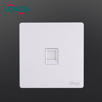 Professional design White PC plate Phone call 1 Gang Electrical Wall Telephone Socket