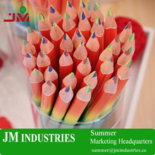 free sample wholesale 4 rainbow colors colored wooden pencils