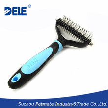 Wholesale environmental protection handle stainless steel pet dematting for dog hair brush