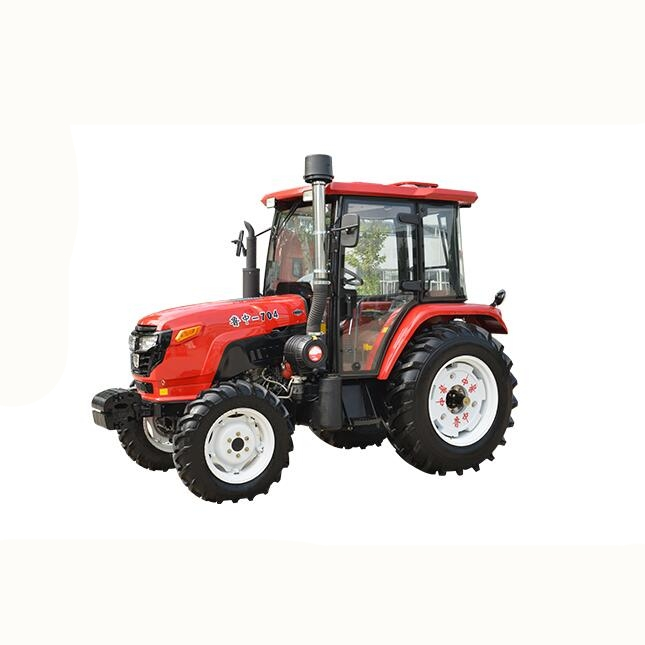 55HP 4x4 tractor with front end loader, pallet fork, log grapple