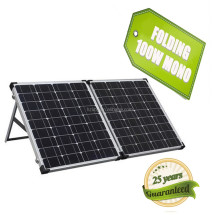portable polycrystalline kits 100 watt folding solar panel for camping with PWM controllers