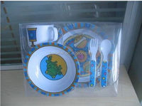 Custom 26pcs melamine dinner set stock with decal