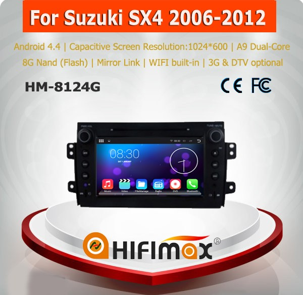 HIFIMAX Android 5.1.1 suzuki sx4 android touch screen car radio gps for suzuki sx4 car audio system for suzuki sx4 navigation