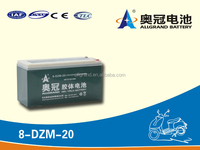 16v20ah deep discharge electric bicycle gel battery