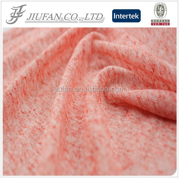 Jiufan Textile Polyester Linen Knitting Hacci Fabric For Clothing