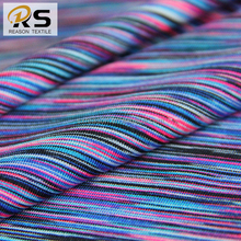 Shaoxing manufacturer yarn dyed poly spandex knit jersey fabric for sportswear