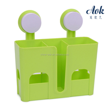 Suction cup kitchen use wall mounted rack
