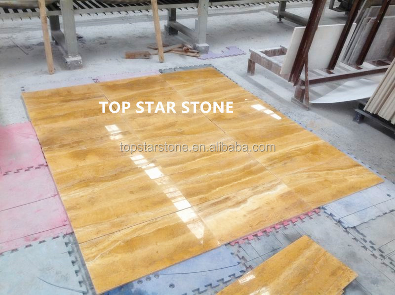 TOPSTAR Golden travertino 300X600MM high quality marble tile prices