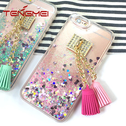 for iphone 6s mobile phone case, glitter sand slider case for Iphone 6s