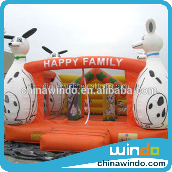 Fantastic family jumping bouncer fairy tale cartoon characters inflatable water slide castle