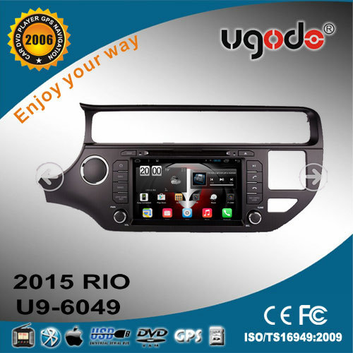 ugode OE Android car media player for 2015 kia rio 2014 accessories gps navigation Wifi 3G GPS DVR OBD