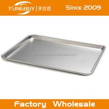 Wholesale flat Perforated baking cake aluminum tray/flat tray for fast food restaurants manufacture