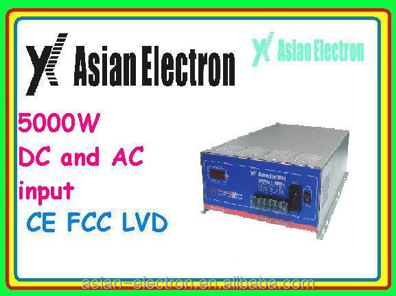 5000W inverter for Solar panel & Wind turbine with AC & DC input 5000W inverter