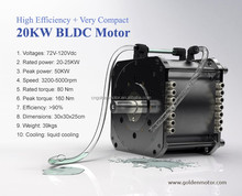 High Efficiency , BLDC motor 20KW electric car conversion kit With VEC controller PLN 17114 CAR electric motor