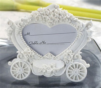 Wedding Gifts Souvenirs and giveaway -- White Pumpkin Carriage Photo Frame