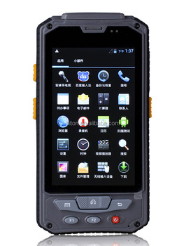 Cheapest Android handheld device 4.3 inch PDA Military Grade with fingerprint 1D or 2D Barcode scanner RFID