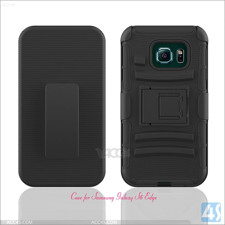 Impact KickStand TPU&PC cell phones Combo case covers for samsung galaxy s6 edge