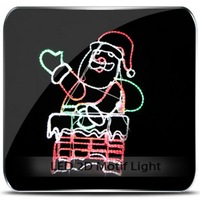 New Creative thinking 2013 new lighted outdoor plastic santa claus